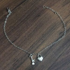 Jewelry - Cute silver ankle bracelet heart and arrow